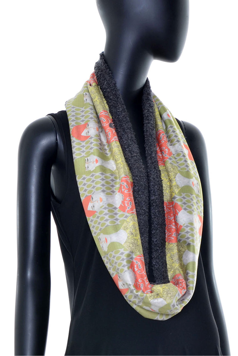 Foulard tube réversible no.386