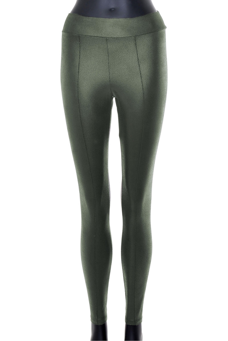 Leggings cuir «vegan»