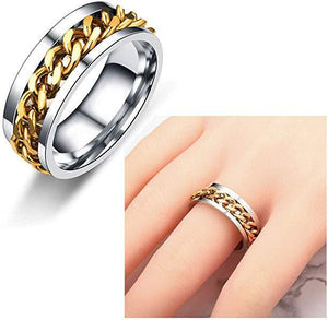 Titanium Steel Rotatable Chain Ring (2Pcs)