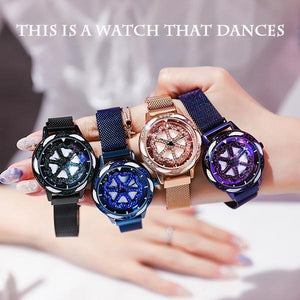 Magnetic Rotating Quartz Watch