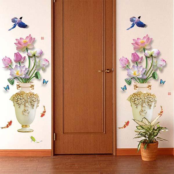 Vintage Vase Wall Sticker
