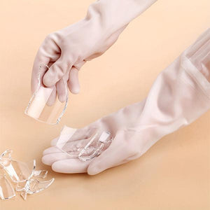 Latex Dishwashing Gloves (2 Pair)
