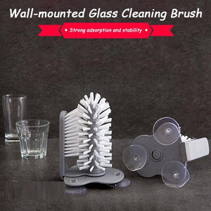 Wall-mounted Glass Cleaning Brush