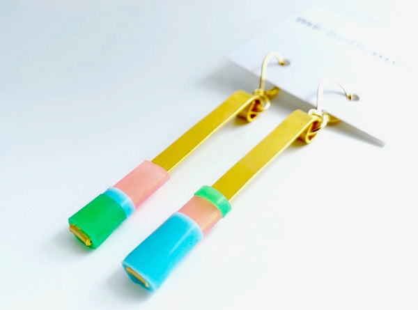 Matchstick Earrings (6cm)