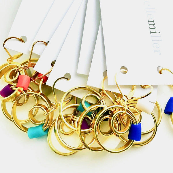 Gold Reel Earrings