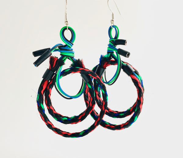 Once Made Earrings: Cable Connect Earrings in red