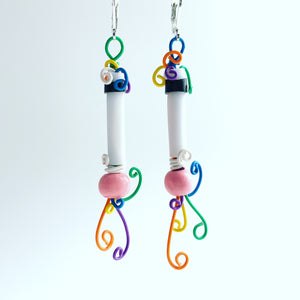 Once Made Earrings: Colour Rooted