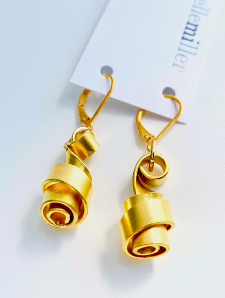 These Loopt earrings are super light weight and hang about 2cm long.