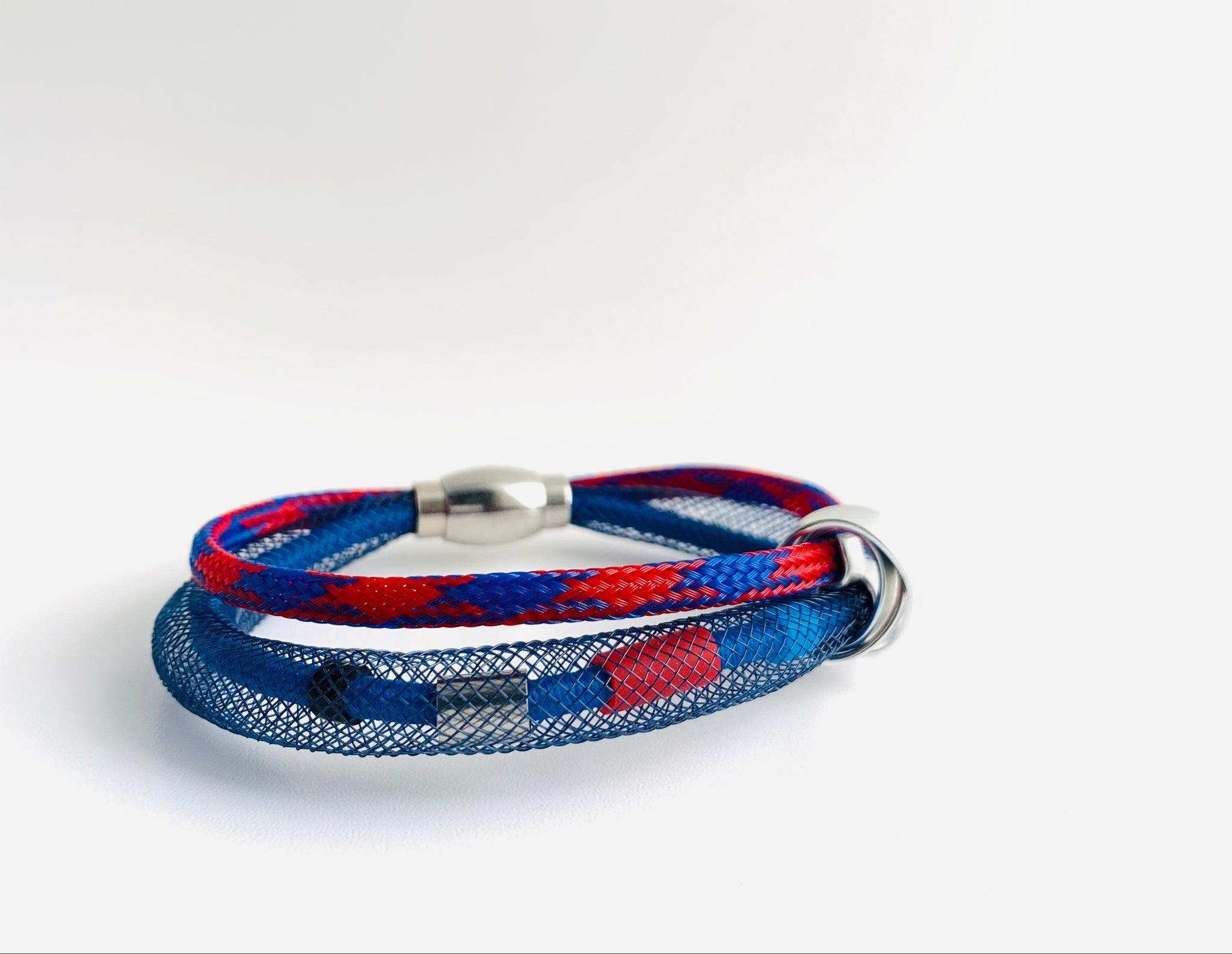 Netted Cable Connect Bracelet in blue