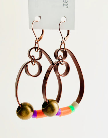 Once Made Earrings: Teardrop loops