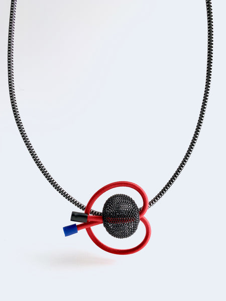 Once Made Necklace: Cherry Loop Necklace