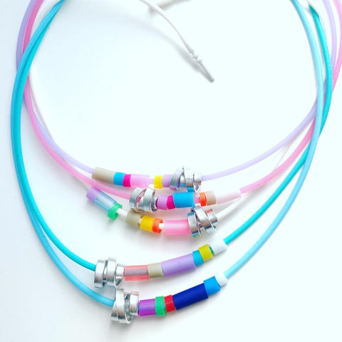 Mondrian Rubber Loopt Necklaces