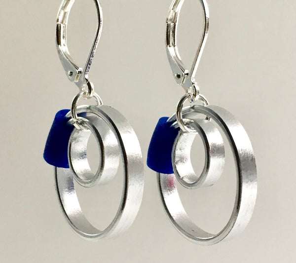These Reel with a royal blue accent hang about 2cm.