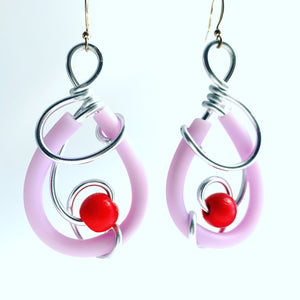 Once Made Earrings:Teardrop Whirl