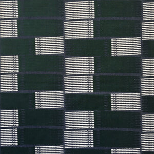 Concrete Stripe Fabric Forest Green & Navy