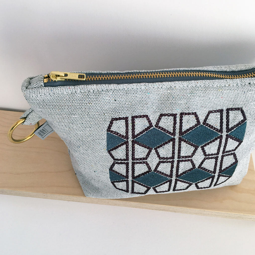 Fifi Embroidered Makeup Bag/Pouch