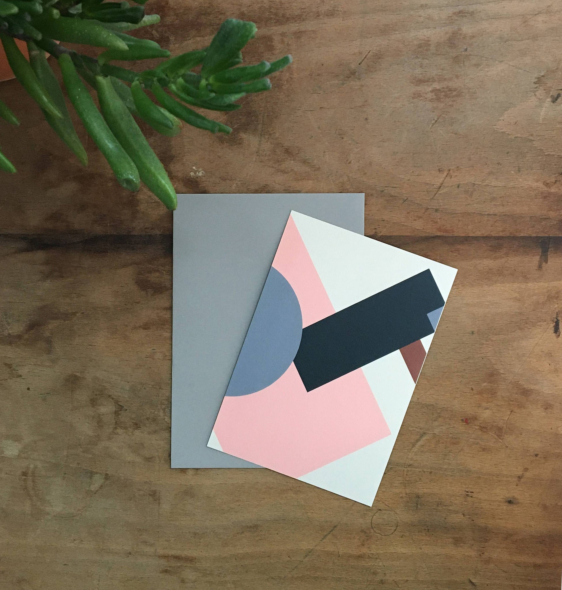 Geometric Notecard Set