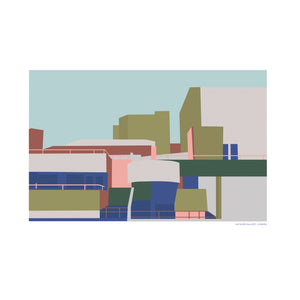 The Hayward Gallery London Print, Parachute Print Series
