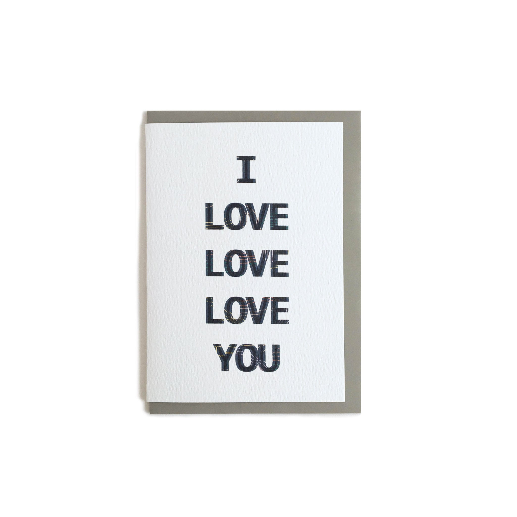 I Love Love Love You Valentines Card