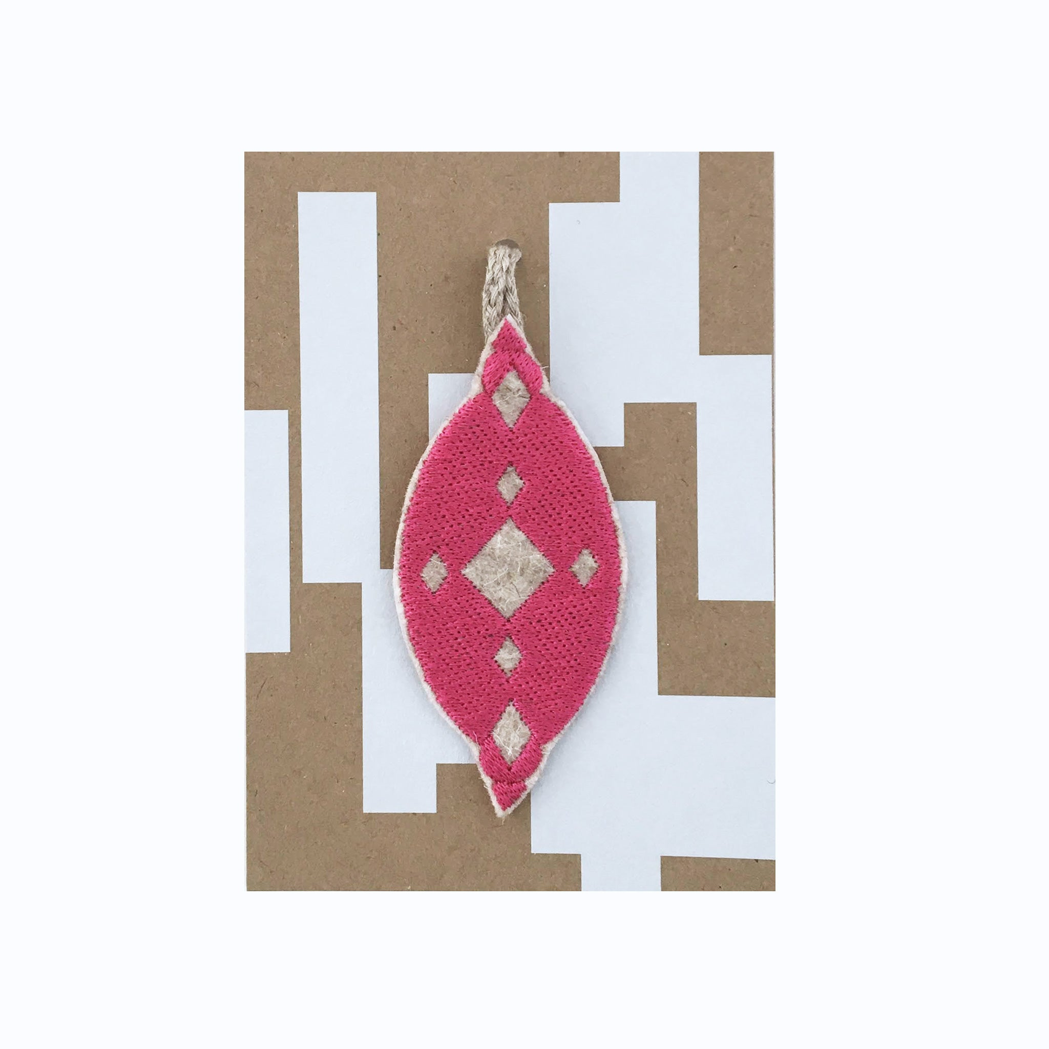 Pink Tear Drop Bauble Christmas Decoration