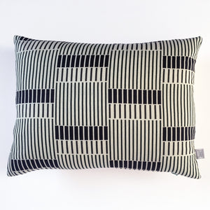 Process Stripe Linen Cushion Green & Cream