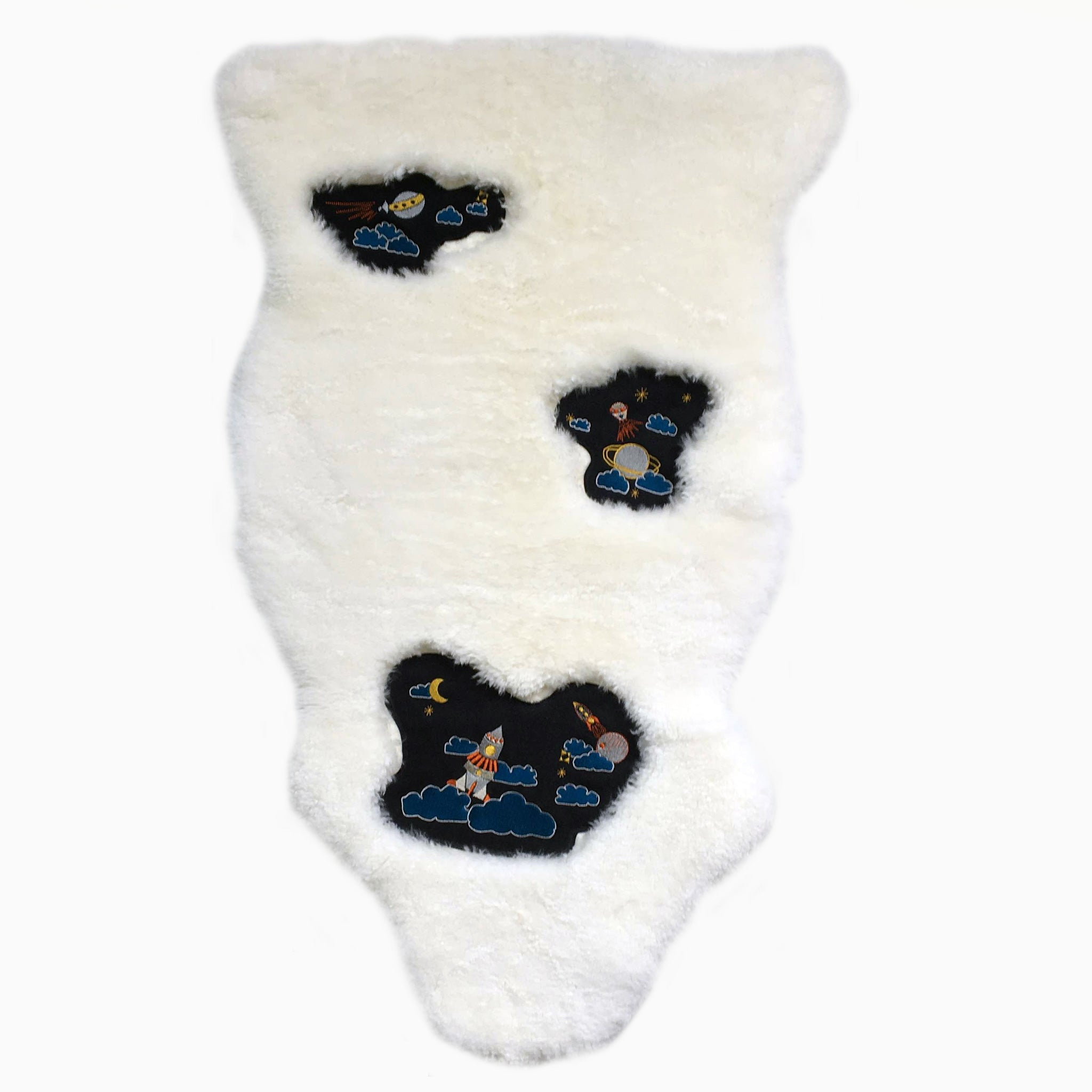 Sky Rocket Embroidered Sheepskin