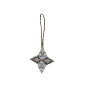 Silver Nativity Star Christmas Decoration
