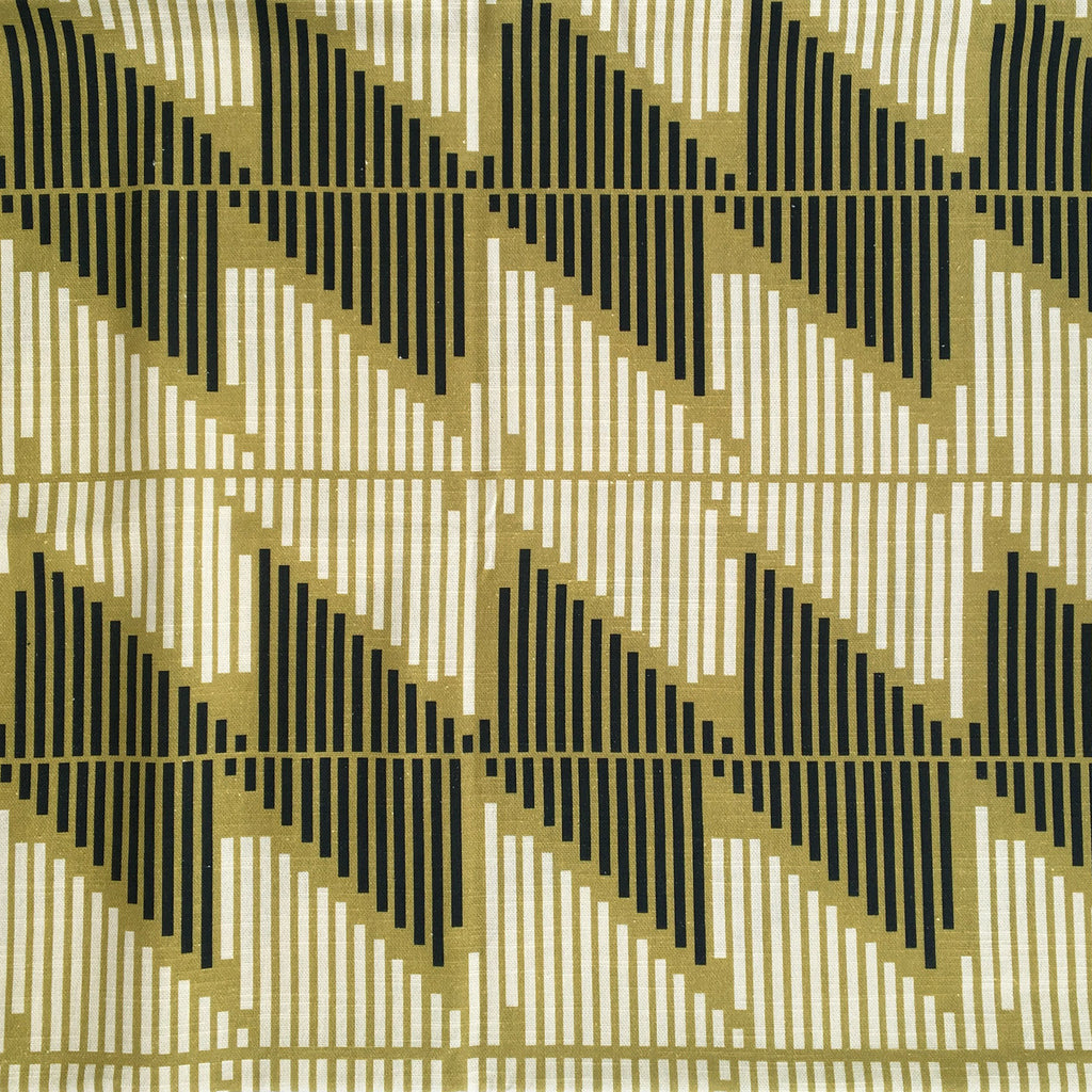 Stripe Story Fabric Navy & Ochre