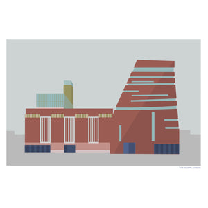 The Tate Modern London Print, Parachute Print Series