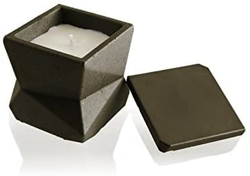 Candellana Candles Candlefort Concrete Candle- Modern III- Beige, Scent: Orient Vanilla