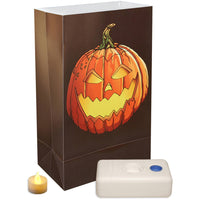 Battery Operated LED Luminaria Kit, 12 Count Jack O' Lantern