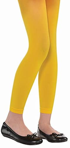 Amscan Child Footless Tights, One Size, Yellow