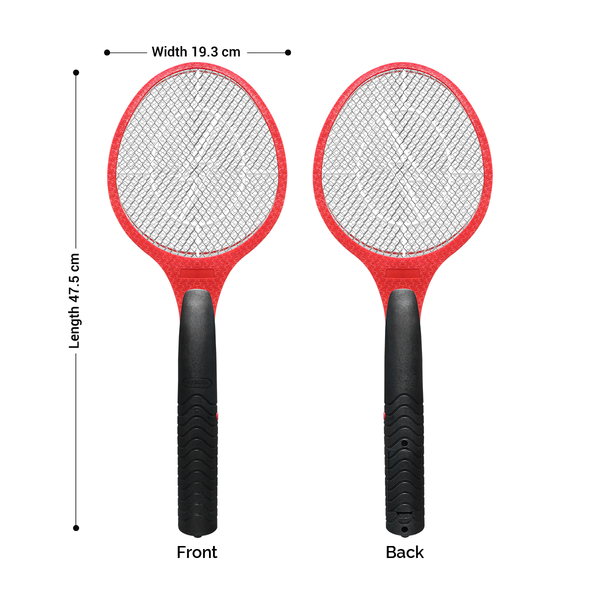 Electric Fly Mosquito swatter, 3 Layer Battery Operated Bug Zapper, Red