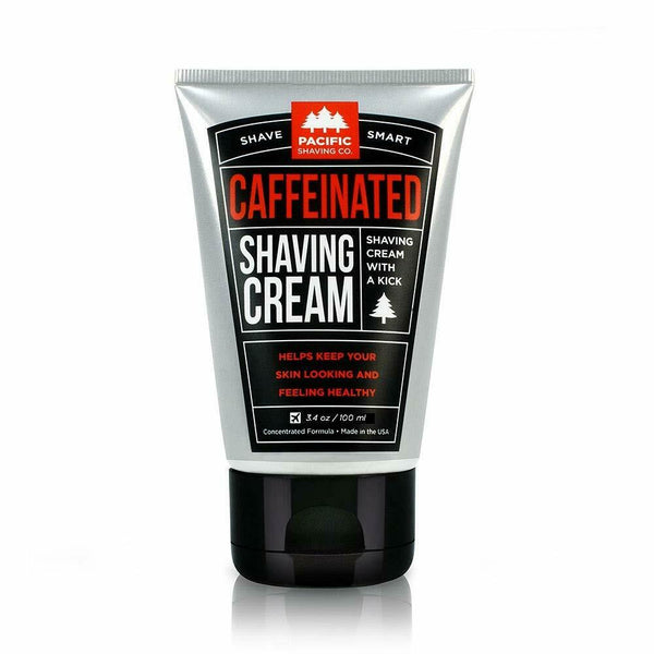 Pacific Caffeinated Shvng Size 3.4oz Caffeinated Shaving Cream 3.4oz,(Pack of 4)