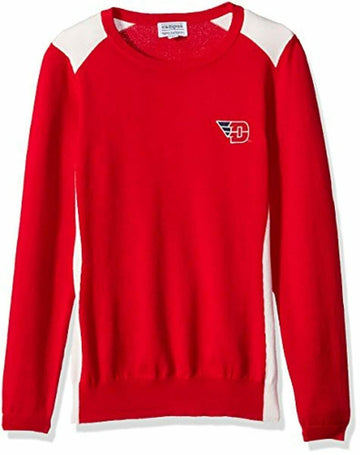 NCAA Color Block Crew Sweater, Small