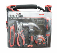 Sheffield 60080 7 Piece Tool Set with Foldable Bag