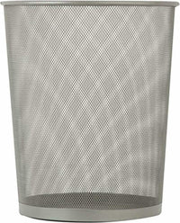 Honey-Can-Do TRS-02101 Steel Mesh Powder-Coated Waste Basket, Silver, 18-Liter/4