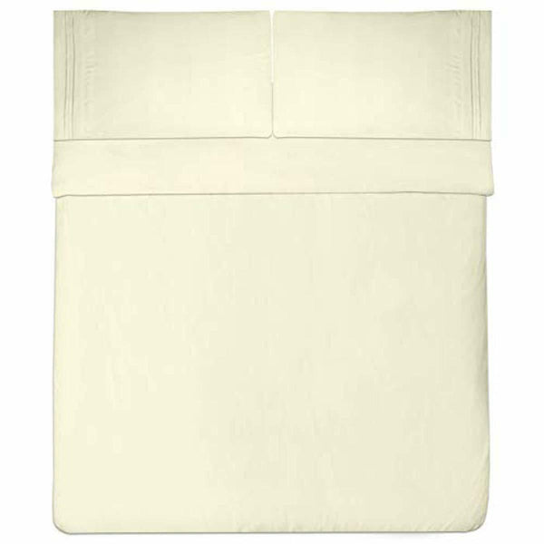 Sweet Home Collection 1800 Thread Count Bed Set Egyptian , King ,Ivory