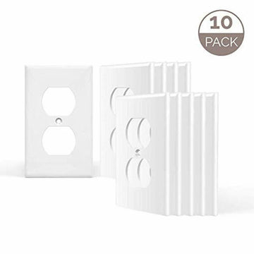 Vettora RE-1 Gang Outlet Covers,White Wall Plates Light Switch Power