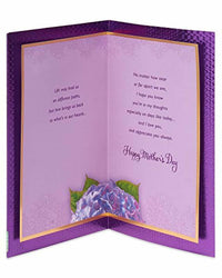 American Greetings Purple Floral Mother's Greeting Day Card with Glitter