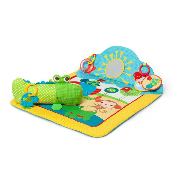 Bright Starts Cuddly Crocodile Activity Prop Play Mat with Support Pillow