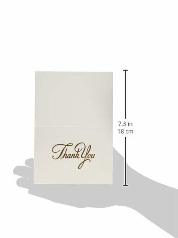 25 Count Thank You Cards, Copper