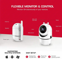 WiFi IP Camera 1080P FHD with Night Vision Motion Detection,Wireless Security
