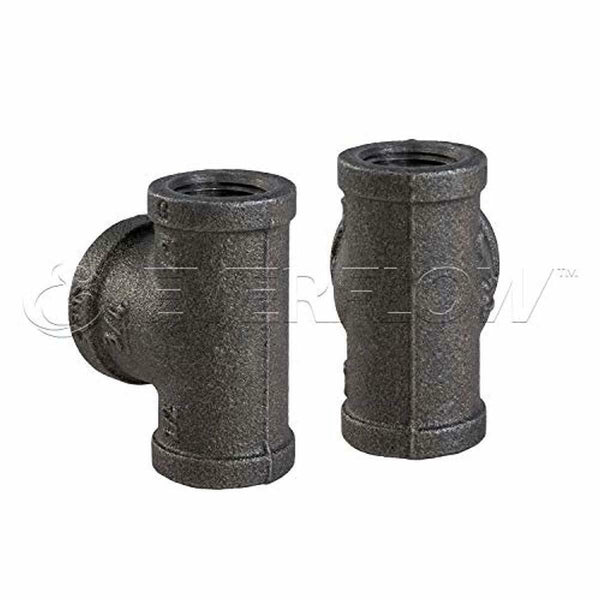 Everflow Supplies BMBT1001 Bull Head Tee Fitting with Female Threaded Connection