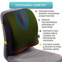 "Back Lumbar Support for Office Chair-15.7""x 13.7"" Pillow for Lower Back-Open Box"