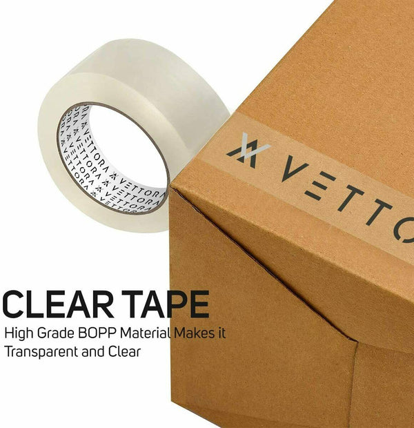 "Heavy Duty Clear Packing Tape,Industrial Grade 2.7mil Thickness,2"" wide 60 Yard"