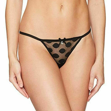 GUESS Women's Polka Dot Thong, Black, X-Large