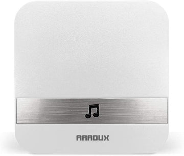Arroux Wireless Doorbell Chime Plug & Play 250m (800ft) Wirelss Connection to Doorbells Input (White)
