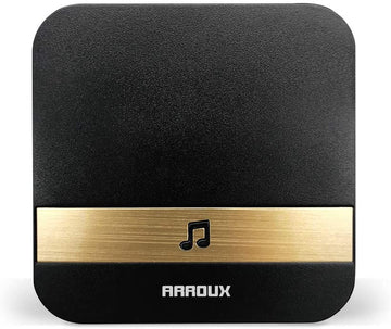 Arroux Wireless Doorbell Chime Plug & Play 250m (800ft) Wirelss Connection to Doorbells Input (Black)