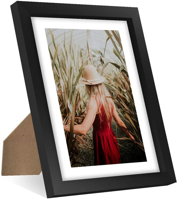 "Vettora Picture Frames with Easel | Photo Frame Includes Wall Display and Table Display, Remember Your Moments | Available in Different Sizes and Black Color (8"" x 10"") 7 Packs"